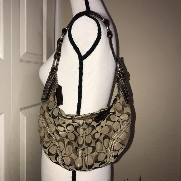 Coach Handbags - Coach brown/tan leather signature c purse